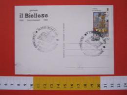 A.08 ITALIA ANNULLO - 1986 BENNA BIELLA VERCELLI 100 ANNI FONDAZIONE GIORNALE IL BIELLESE NEWSPAPER - Altri