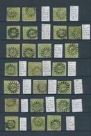 Bayern - Marken Und Briefe: 1850/1860 (ca.), 9 Kr. Grün (MiNr. 5), Sauber Gestempelte Spezialsammlun - Bavaria