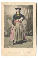 Portugal - Uma Ovarina, Woman In Traditional Costume - Postcard From 1902 - Portugal
