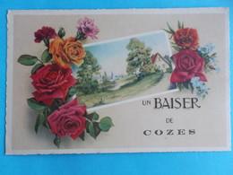 17 :COZES : UN BAISER De., C.P.A.,carte En Bon état , - France