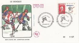 FDC  France Env. 1er Jour N° 1137 - Le Hockey Jeux Hiver 1992 Albertville - 73 Méribel Les Allues 9.02.1991 - T. 2677 - 1990-1999