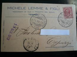 Termoli   Testatina Pubblicitaria  Usata 1913 Ambulante (C) - Altre Città