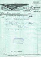 Nordhorn, Gent: 1931, Ets. Niehues & Dütting; Manifacture De Coton, Filature, Tissage, Teinture Et Blanchiment - Factures & Documents Commerciaux