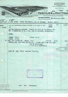 Nordhorn, Gent : 1931, Ets. Niehues & Dütting; Manifacture De Coton, Filature, Tissage, Teinture Et Blanchiment - Factures & Documents Commerciaux