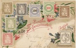 Schweiz, 13.7.1900, Postkarte, Ambulant 2, Neuville, Schweizermarke C.F.Bally Siehe Scans! - Switzerland