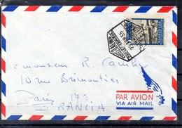 Carta Con Matasellos De Tetuan A Francia - Maroc Espagnol