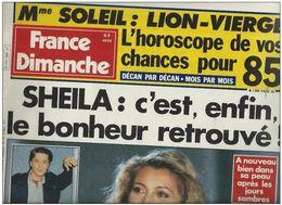 France Dimanche N°2004 Sheila C'est Enfin Le Bonheur Retrouvé - Gilbert Bécaud - Stéfanie Powers - Nathalie Baye - People