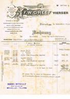 Viersen, Brussel :1933, F.W.Greef , Weberei In Seiden- Uns Kunstseiden - Stoffen. - Factures & Documents Commerciaux