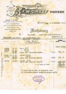 Viersen, Brussel:1933, F.W.Greef , Weberei In Seiden- Uns Kunstseiden - Stoffen. - Factures & Documents Commerciaux