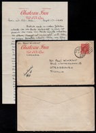 CANADA - VAL D'OR - CHATEAU INN - QUEBEC  / 1945 LETTRE + CONTENU POUR LA FRANCE (ref LE3175) - 1851-1902 Règne De Victoria