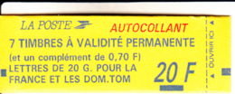 France 1993 MNH Sc #2347b,#2347c 20fr Booklet (2.50fr) Marianne, 70c Marianne - Usage Courant
