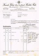 Herdecke -Ruhr, Brussel: 1932, Heinrich Habig Aktien Gesellschaft, Bleudruckfabrik + Kattundruckerei - Factures & Documents Commerciaux
