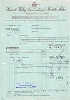 Herdecke -Ruhr, Brussel: 1933, Heinrich Habig Aktien Gesellschaft, Bleudruckfabrik + Kattundruckerei - Factures & Documents Commerciaux