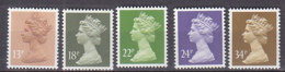 PGL BZ528 - GRANDE BRETAGNE Yv N°1140/44 ** MACHINS - 1952-.... (Elizabeth II)