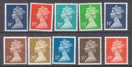 PGL BZ562 - GRANDE BRETAGNE Yv N°1328/35+1344/45 ** MACHINS - 1952-.... (Elizabeth II)