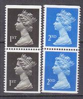 PGL BZ565 - GRANDE BRETAGNE Yv N°1394+a/1995+a ** MACHINS - 1952-.... (Elizabeth II)