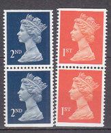 PGL BZ589 - GRANDE BRETAGNE Yv N°1473a+b/1474a+b ** MACHINS - 1952-.... (Elizabeth II)