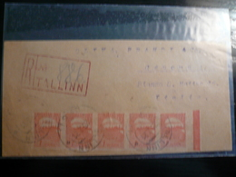 1 Mark X 5 Stripe 1921 On Registered Fragment - Estonia