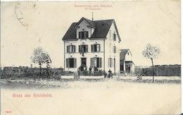 Gruss Aus ENSISHEIM - Restauration Zum Bahnof ( Pionnière) - Autres Communes