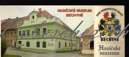 8-1257 CZECH REPUBLIC 2001 Ticket Admission 30,-CZK + Museum Of Fire In Bechyne Coat Of Arms 21x8,9cm Postcard - Eintrittskarten