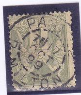 France, Sage, N°82, Oblitéré Paris R Milton 1859 ( 1901/75) - 1876-1898 Sage (Type II)