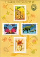 France 2000 MNH Sc #2779a Sheet 4 Butterfly, Giraffe, Dinosaur, Tulip - France