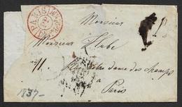 1837 LSC - PARIS - Cachet De Disribution Port Payé PARIS PP DISTon De 2h½ M - Levée Du 8h - Juillet 29 - 1801-1848: Précurseurs XIX
