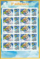 France 2000 MNH Sc #2792 Sheet  10+10 Labels 3fr Start Of The 3rd Millenium - France