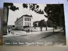 1956 - Torino - Corso Regina Margherita - Ospedale Gradenigo - Stabilimenti Farina - Animata  Cartolina Storica Originle - Salute, Ospedali