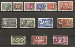 Schweiz, Zu 262-274, 1945 Pax Set, 13 Werte,  Sehr Schön Gestempelt, Siehe Scan! - Used Stamps