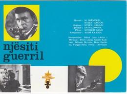 CPM Cinéma: C112  Affiche Du Cinéma ALBANIA: Filmu NJËSITI GUERRIL Di M. Skënderi/H. Hakani è S. Kokona 1969 - Manifesti Su Carta