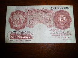 BANK OF ENGLAND * TEN SHILLINGS  Nd    LONDON   TB - 10 Shillings