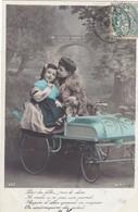 """CARTE FANTAISIE. CPA. LOT DE 5 CARTES. JEUNE PILOTE ET """" LA VISITE DE CHARME DES RÉGIONS """"  ANNEE 1907 - Enfants"""