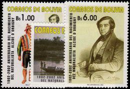 Bolivia 2002 Alcide D'Orbigny Unmounted Mint. - Bolivia