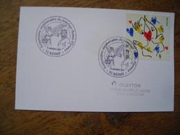 2015 Reims 60e Jumelage Reins-Florence, Timbre JC De Castlebajac - Marcophilie (Lettres)
