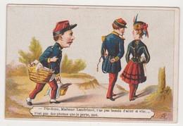 26825 Chromo Magasin RENOULT Rue Chartraine EVREUX Confection Soiries -pique Nique Soldat Costume Officier - Autres