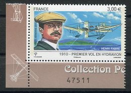RC 11543 FRANCE PA N° 73a HENRI FABRE HYDRAVION PROVENANT DU FEUILLET NEUF ** TB - 1960-.... Neufs