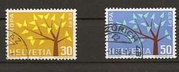 Schweiz, 1961, 389Pf+390Pf , Beide Kurzer Ast Gestempelt,  Siehe Scan! - Usados