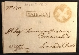 1815 MATELICA PER SERRA DE CONTI - Italy