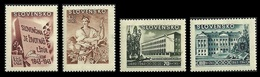 SLOVAKIA CZECHOSLOVAKIA 1943 CULTURE FUND AGRICULTURE STUDENT LANGUAGE SET MNH - Unused Stamps