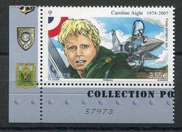RC 11549 FRANCE PA N° 78a CAROLINE AIGLE MIRAGE 2000 PROVENANT DU FEUILLET NEUF ** TB - Airmail