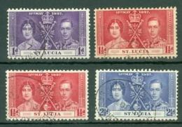 St Lucia: 1937   Coronation    Used - St.Lucia (...-1978)