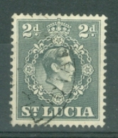 St Lucia: 1938/48   KGVI   SG131    2d   [Perf: 14½ X 14]     Used - St.Lucia (...-1978)
