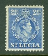 St Lucia: 1938/48   KGVI   SG132a    2½d  Ultramarine  [Perf: 12½]      MH - Ste Lucie (...-1978)