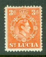 St Lucia: 1938/48   KGVI   SG133a    3d  [Perf: 12½]      MH - Ste Lucie (...-1978)