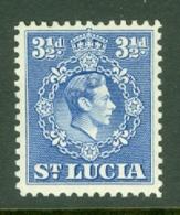 St Lucia: 1938/48   KGVI   SG133b    3½d        MH - Ste Lucie (...-1978)