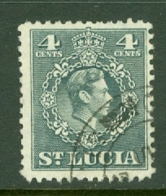 St Lucia: 1949/50   KGVI   SG149    4c      Used - St.Lucia (...-1978)