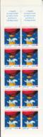 France 1996 MNH Sc #B676b Booklet 10 + 2 Labels Snowman, Polar Bear In Hot Air Balloon Christmas - Carnets