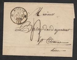 1838 LAC C.à.d FLEURON Type 12 - JOYEUSE 27 AVRIL 1838 ( ARDECHE) A ST ETIENNE - BELLE FRAPPE - 1801-1848: Précurseurs XIX