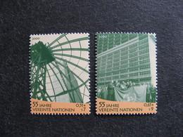 O.N.U.  C.I. De Vienne : TB Paire N° 325 Et N°326, Neufs XX. - Wien - Internationales Zentrum